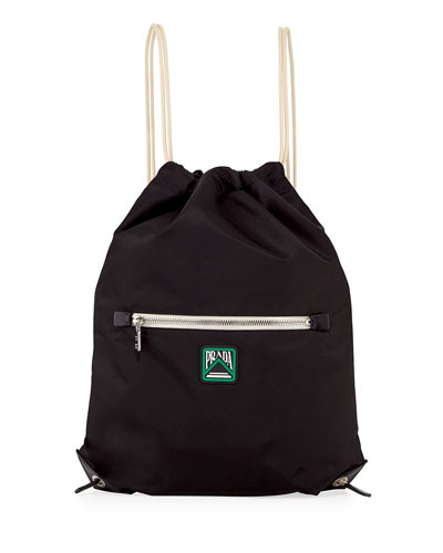 Men's Rucksack Drawstring-Top Backpack