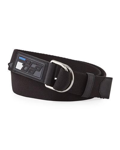 Men's Nastro Rubber D-Ring Belt