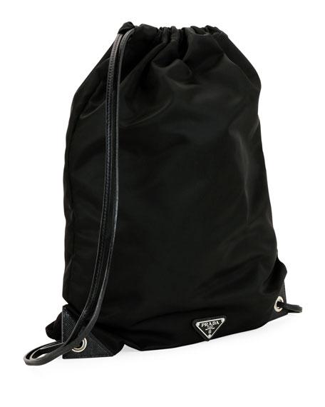 295ee4eeb0566c Prada Men's Seahorse Nylon Rucksack Backpack