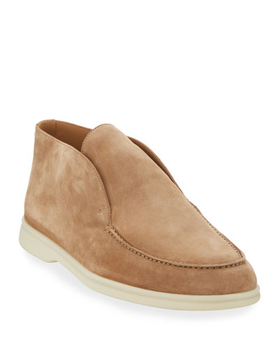 Men's Open Walk Suede Booties