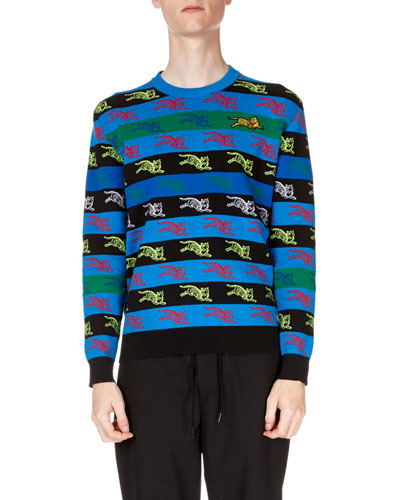 Men's Tigers Striped Sweater