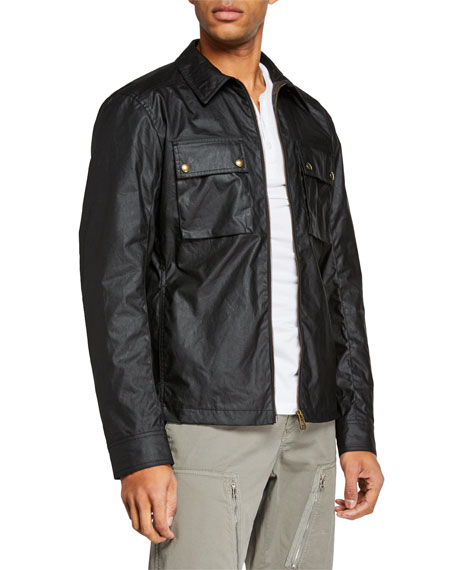 Belstaff Men's Dunstall Waxed-Cotton Shirt Jacket