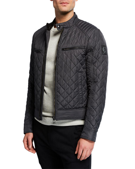 Belstaff Men's Vintage Beckford Quilted Racer Jacket