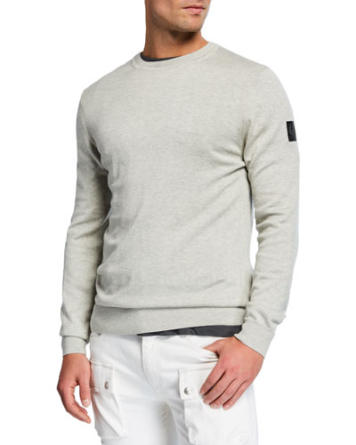 Men's Cotton/Silk Crewneck Sweater