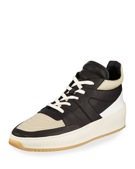 a707ef61c Fear of God Men's Two-Tone Leather Mid-Top Basketball Sneakers