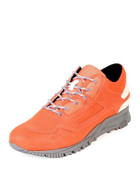 Lanvin Men's Mesh-Overlay Leather Running Sneakers