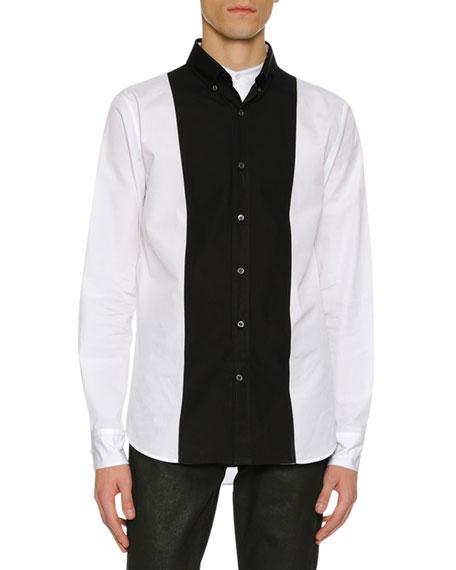 Alexander McQueen Men's Colorblock Paneled Button-Front Shirt
