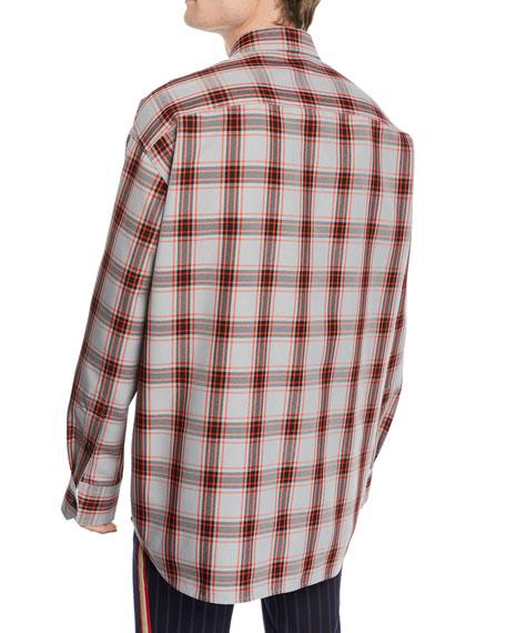 Men's Tartan Check Sport Shirt