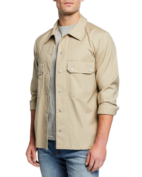 Men's Snap Shirt Jacket