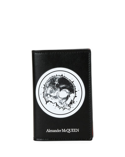 Men's Skull Graphic Leather Organizer Wallet
