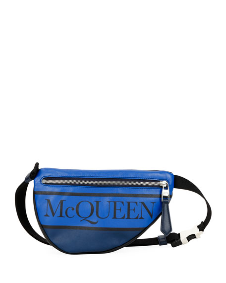 cf4bfaec Alexander McQueen Men's Mini Logo-Print Belt Bag/Fanny Pack
