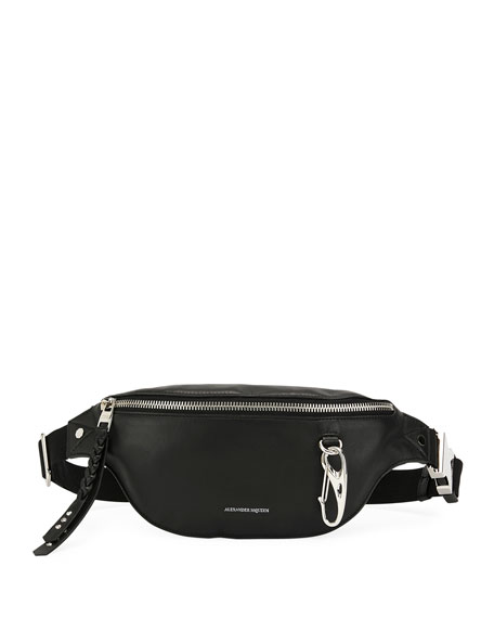 Alexander McQueen Men's Mini Leather Belt Bag/Fanny Pack