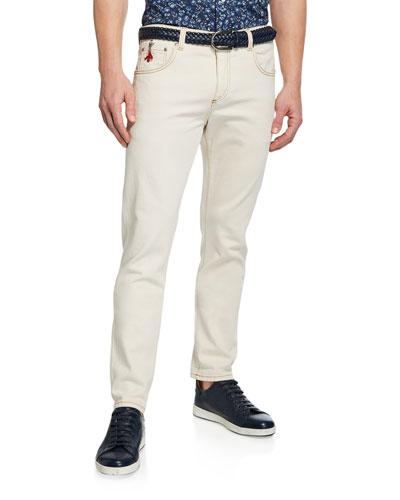 Men's Straight-Leg 5-Pocket Twill Pants