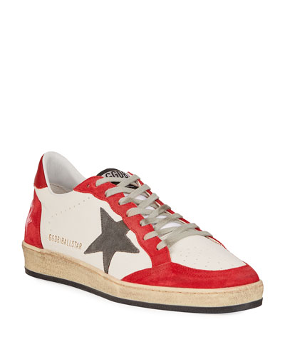 Men's Ball Star Leather Low-Top Sneakers