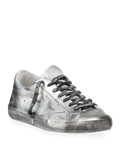 Men's Superstar Metallic Leather Sneakers