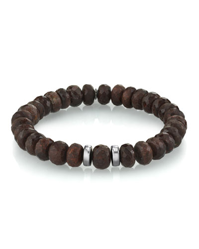 Men's Coffee Quartz Bracelet  Size M