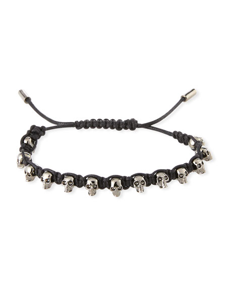 Men's Skull Bead Friendship Bracelet