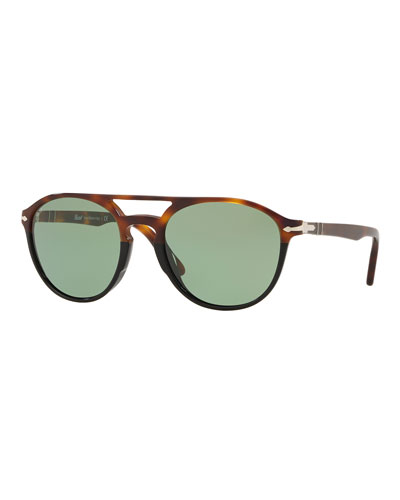 Men's Acetate Round Sunglasses