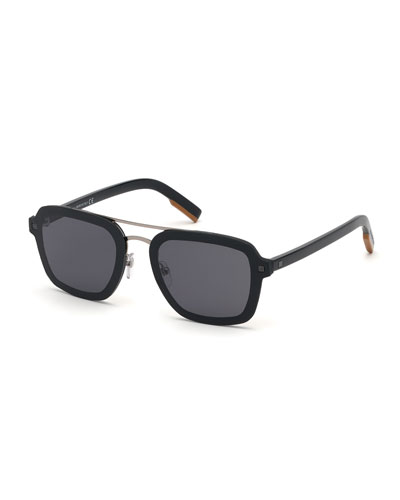 Men's Shiny Acetate Sunglasses