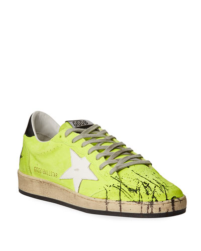 Men's Ball Star Splatter Suede Sneakers
