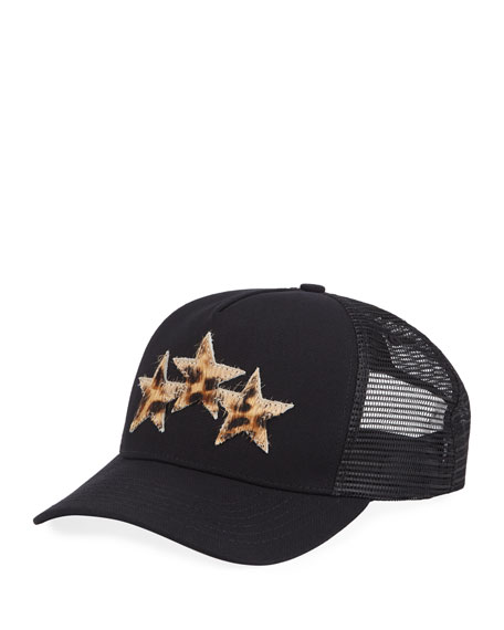 Amiri Men's Three-Star Mesh-Back Trucker Hat