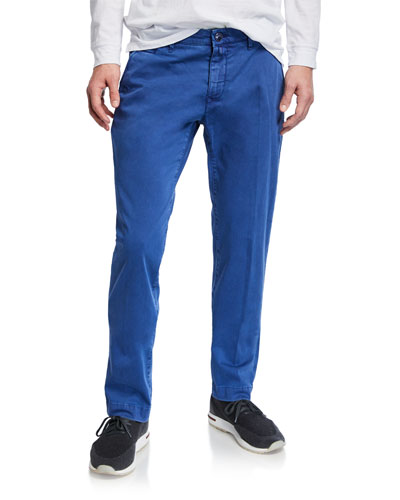 Men's Bobby Stretch Cotton Pants  Blue