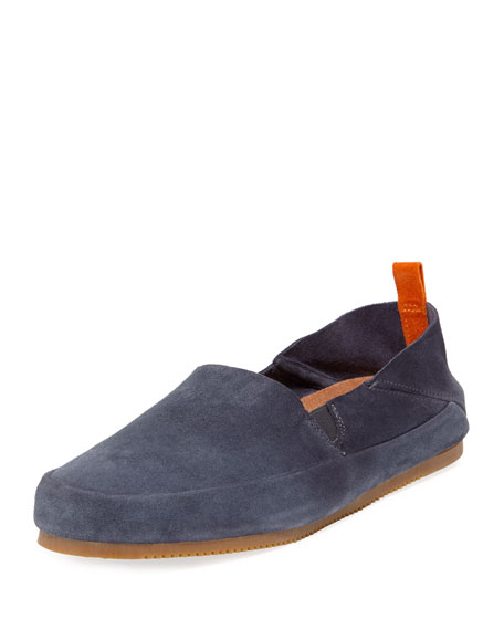 Mulo Loafers MEN'S SUEDE FOLDABLE-HEEL LOAFER