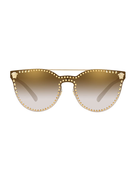 Men's Metal-Studded Sunglasses