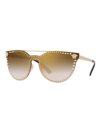 Men's Metal-Studded Sunglasses