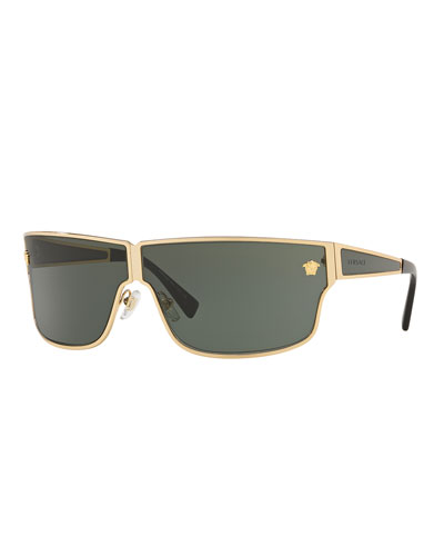 Men's Metal Rectangle Sunglasses