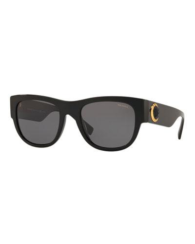 416f3abed2 Men s Square Acetate Wrap Sunglasses Quick Look. Versace