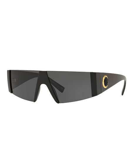 Versace Men's Propionate Shield Sunglasses