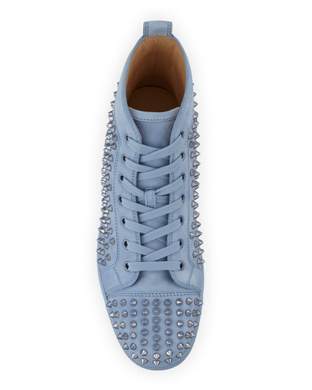 Men's Louis Spike-Studded Suede Sneakers