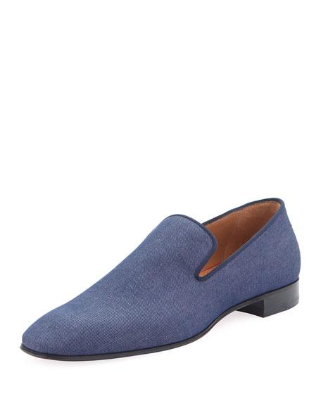 new style 9edee 34991 Men's Dandelion Flat Denim Loafers