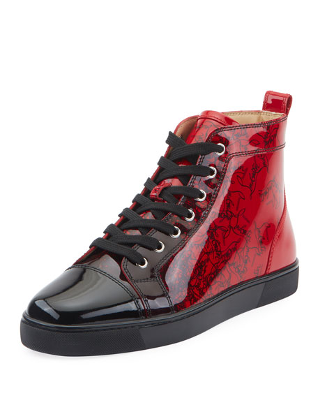 89103cc21f Christian Louboutin Men s Louis Ombre Patent Leather High-Top Sneakers