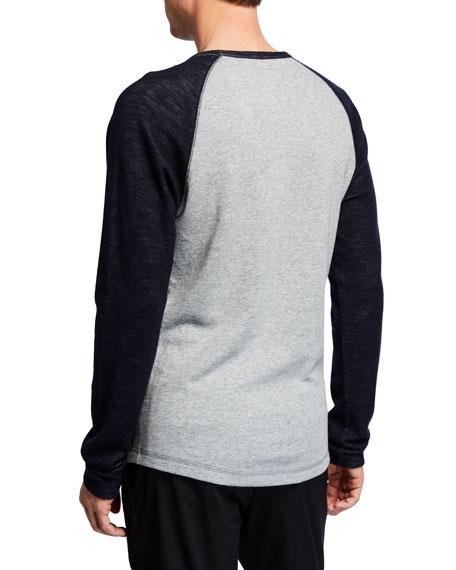 Men's Colorblock Double Knit Long-Sleeve Shirt