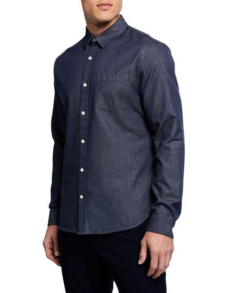 Men's Long-Sleeve Chambray Sport Shirt