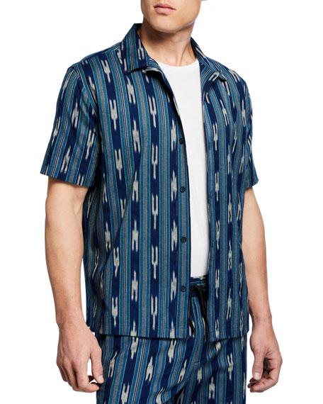 Men's Ikat-Pattern Cabana Shirt