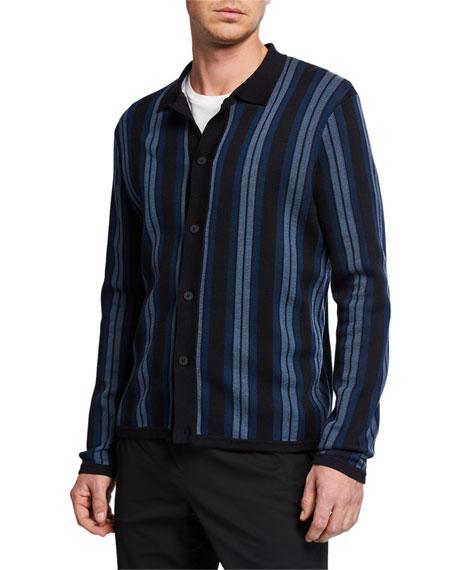 Vince Men's Striped Sweater Shirt