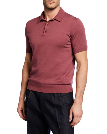 Ermenegildo Zegna Men's Premium Cotton Polo Shirt
