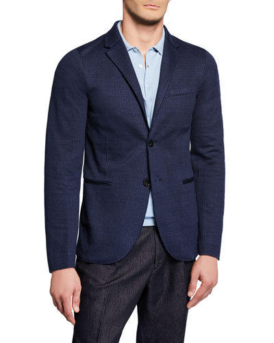Men's Prince Of Wales Plaid Blazer