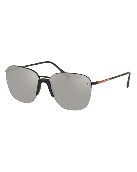 6e256552946 Prada Men s Rimless Metal Sunglasses - Mirrored