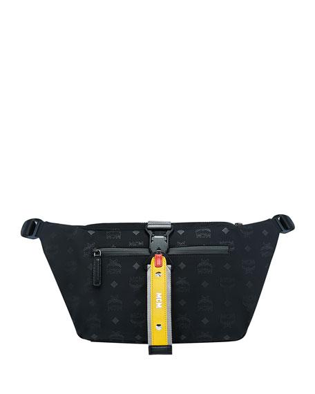 a9d6251042b MCM Men s Resnick Large Monogrammed-Nylon Belt Bag