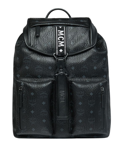 Men's Raymonde Two-Pocket Faux-Leather Backpack