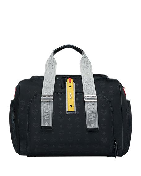 44a5768e519 MCM Men s Resnick Monogrammed Nylon Weekender Bag
