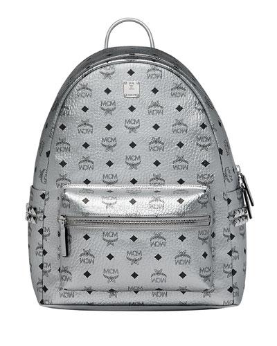Men's Stark Logo Visetos Backpack  Silver