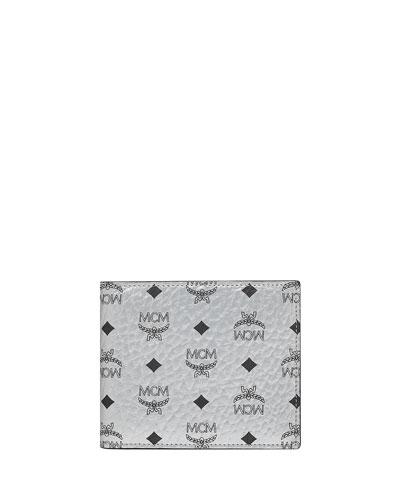Men's Visetos Original Two-Fold Wallet  Silver