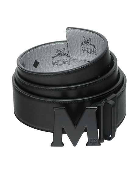 cc7a51c1ada MCM Men s Crown Visetos Reversible M-Buckle Monogram Belt