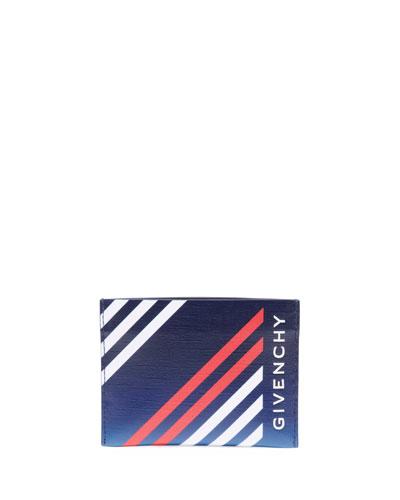 Men's Lines Print Card Case