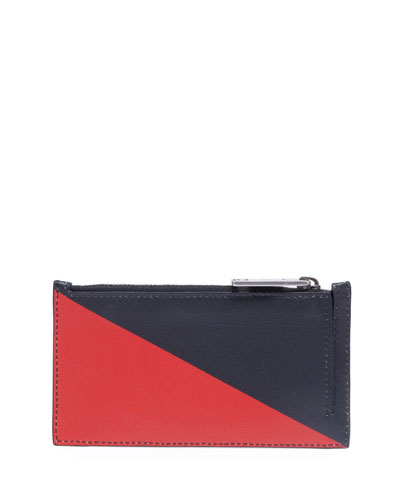 Men's Triangle Print Card Case